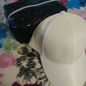 Baseball cap and cosmetic case